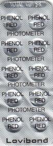 NRO. 51  pH phenol red testitabletit- 10 liuskaa - tuotenro. 5050200 hinta 3e